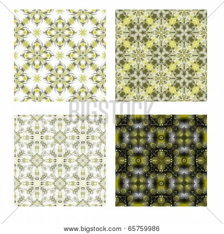 Set of four Green Seamless Tiling Textures