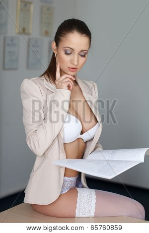 Provocative Young Businesswoman