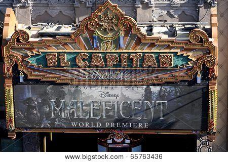 LOS ANGELES - MAY 28:  El Capitan Marquee at the