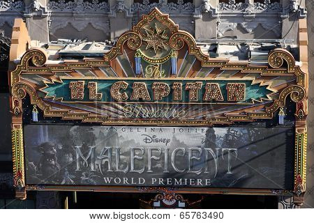LOS ANGELES - MAY 28:  El Capitan Marquee at the