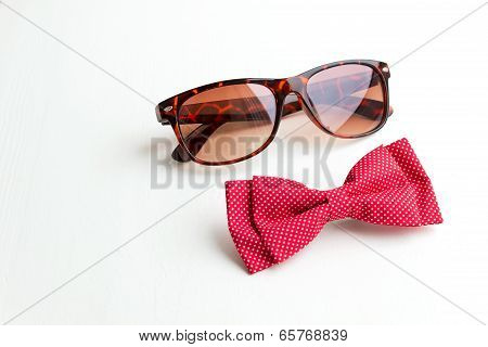 Bow Tie And Sunglasses