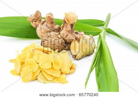 Cassumunar ginger, a basic ingredient for Thai massage oil.