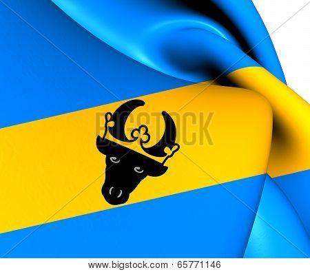 Flag Of Parchim Landkreis