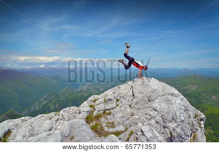 Man On Mountain Top