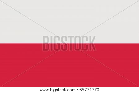 Flag Of Poland (official Colors)