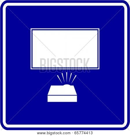 video projection sign