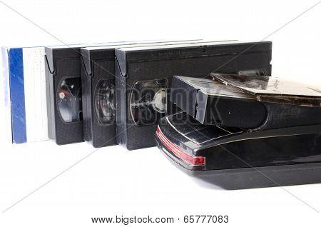 Cassette Tape On Black Background