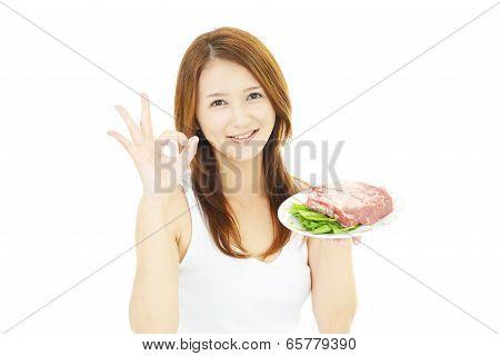 Smiling Asian woman
