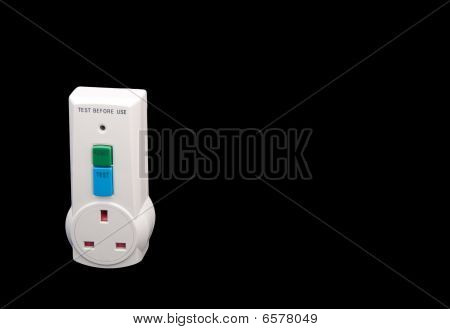 Electrical Rcd Protection Tester isolated on black