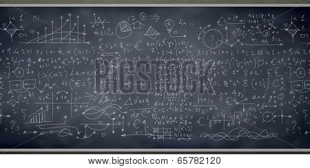 Background conceptual image with business sketches on chalkboard