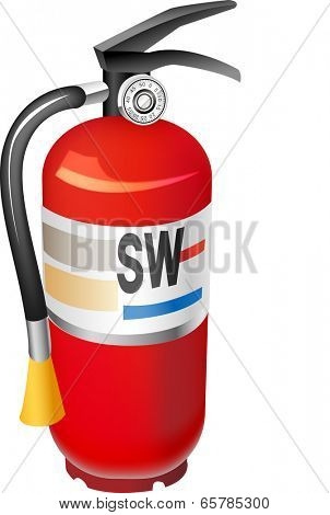 The view of fire extinguisher