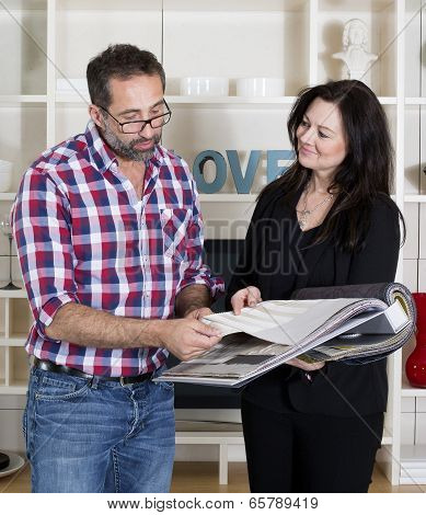 Woman Consults A Man