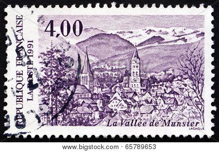 Postage Stamp France 1991 Valley Of Munster, Alsace