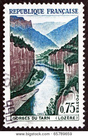 Postage Stamp France 1965 Tarn Gorge, Lozere Mountains