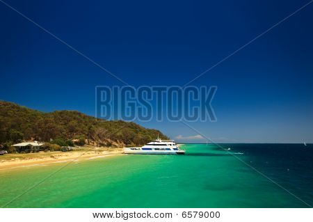 Scenic View Of Coast Of Moreton Island Australia