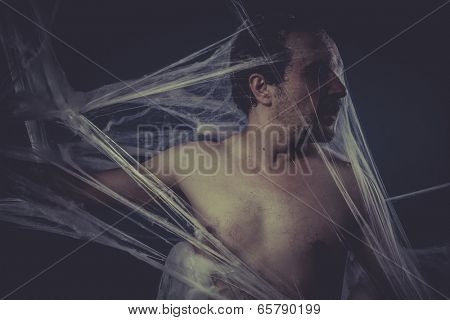 Halloween, Man trapped in a spider web