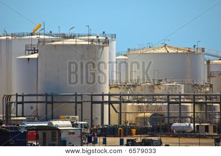 Petroleum Storage Tanks Brisbane Harbor