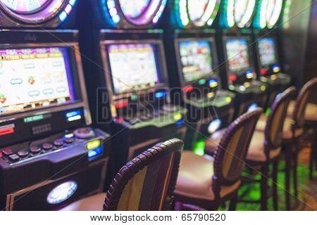 Las Vegas- USA, September, 30: Slots in Las Vegas Casino Nevada United States
