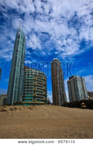 Resorts At Beach In Surfers Paradise