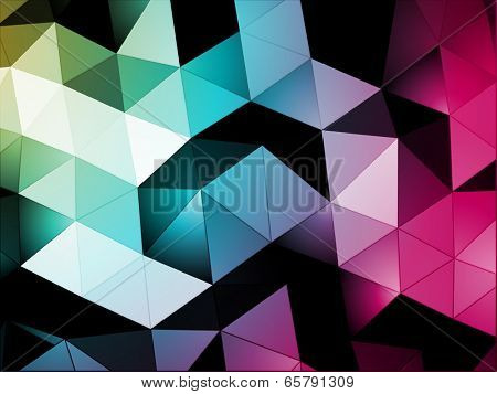 Abstract Background from Triangles