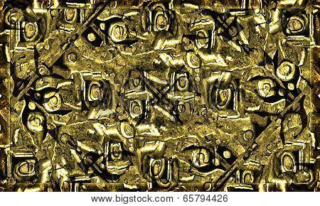 Grunge Golden Texture