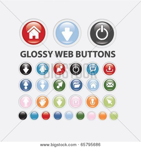 glossy web site buttons
