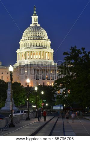 The Capitol Building at night - Washington D.C. USA