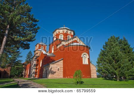 Zica Orthodox Monastery in Kraljevo, Serbia