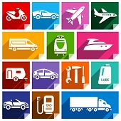 picture of lube  - Transport flat icons with shadow - JPG