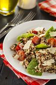 picture of quinoa  - Healthy Vegetarian Quinoa Salad with Tomatoes and Spinach - JPG