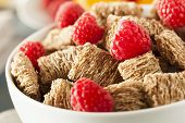 picture of whole-wheat  - Healthy Whole Wheat Shredded Cereal with Fruit for Breakfast