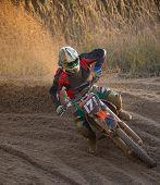 image of motocross  - Motocross bike in a race - JPG