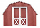 foto of red barn  - Traditional red barn wood shed for storage - JPG
