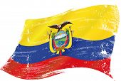 stock photo of guayaquil  - Ecuador grunge flag - JPG