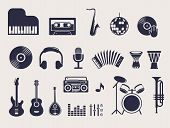 stock photo of drum-set  - musical instruments - JPG