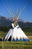 picture of teepee tent  - Authentic tepee from Native North Americans - JPG