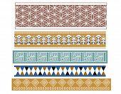 image of babylon  - A set of different ancient babylonian pattern designs - JPG