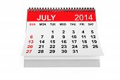 stock photo of calendar 2014  - 2014 year calendar - JPG