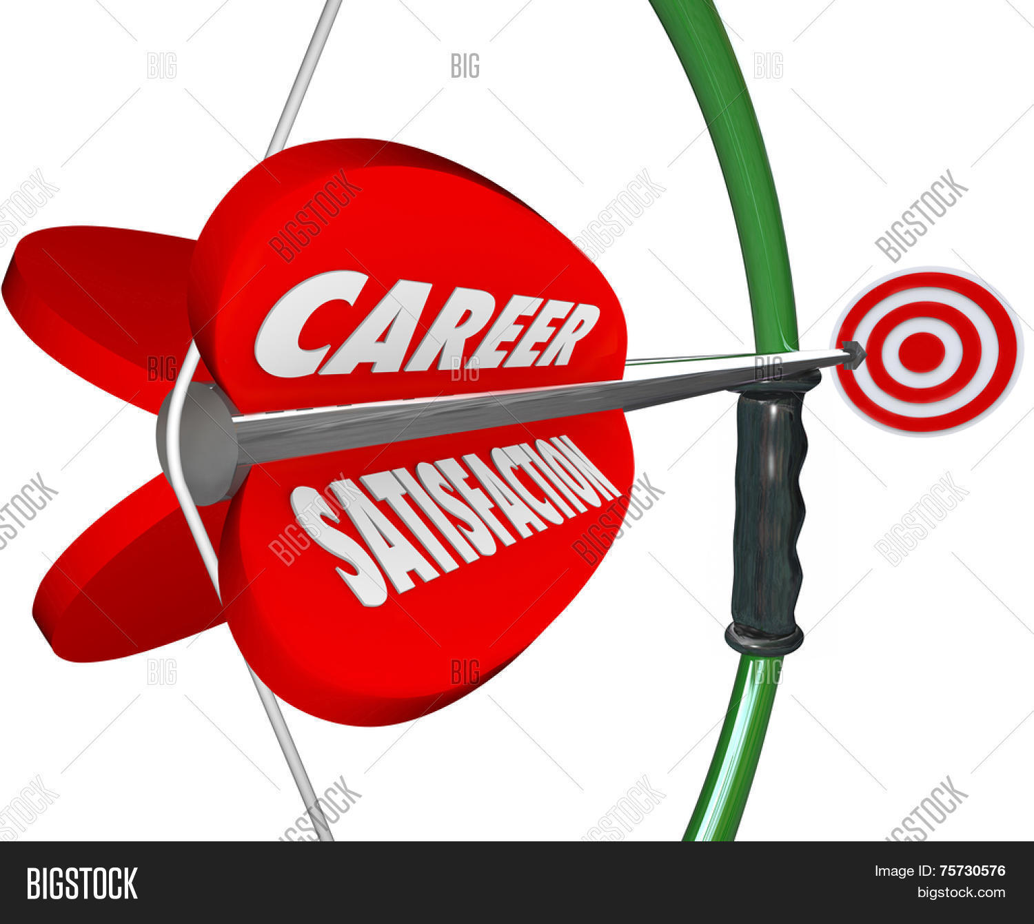 career satisfaction words on a d bow and arrow to illustrate job career satisfaction words on a 3d bow and arrow to illustrate job or work happiness