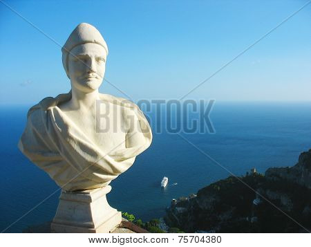 Statue at Villa Cimbrone at the Amalfi Coast in Ravello, Italy