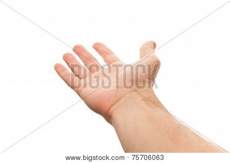 Right Male Hand With Empty Place For Holding Something