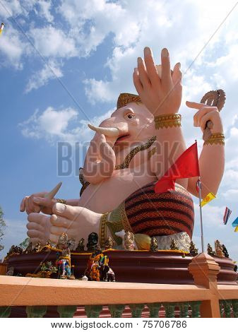 Ganesh statue in Nakornnayok province of thailand.