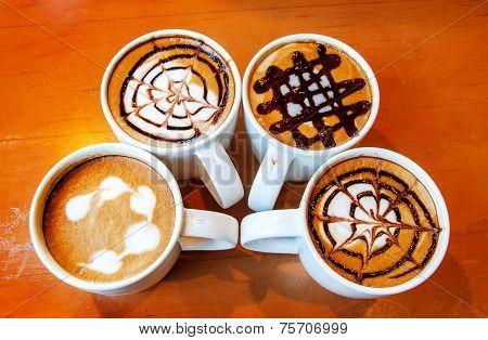 Latte Design In Mug