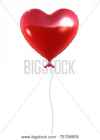 3d rendered heart-shaped balloon