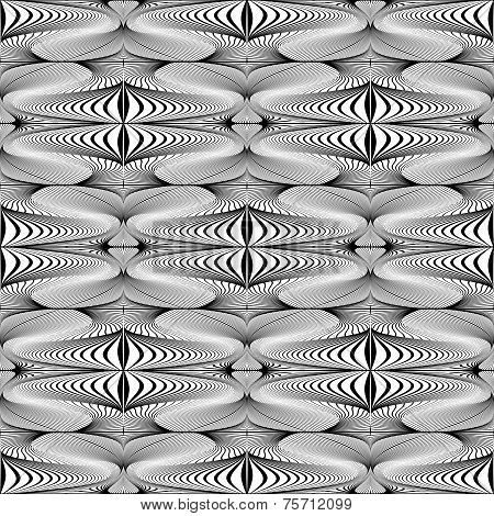 Design Seamless Whirl Movement Striped Geometric Pattern