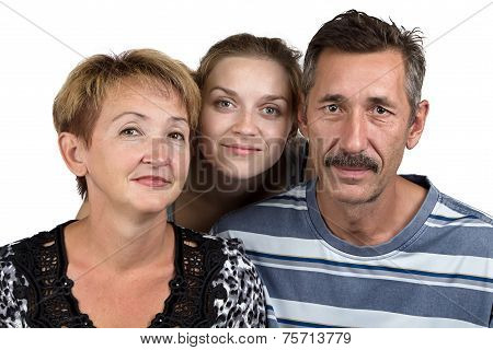 Photo of the parents and daughter