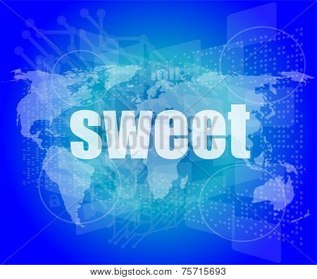 Sweet Words On Digital Touch Screen Interface