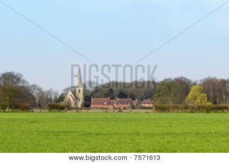 Wheatfield With Rural Church