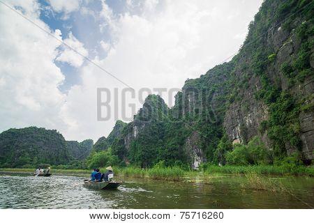 Tam Coc, Ninh Binh, Vietnam - September 14, 2014.