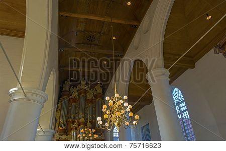 Interior of the Jacobin church in Leeuwarden
